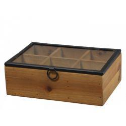 Box w. 6 compartments