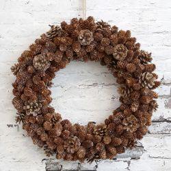 Świąteczny Wianek Chic Antique z Szyszek