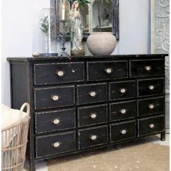 Grocer's table antique black
