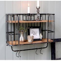 Old Shelf w 5 hooks