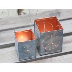 Metalowe Lampiony Chic Antique Pacyfka 2szt.