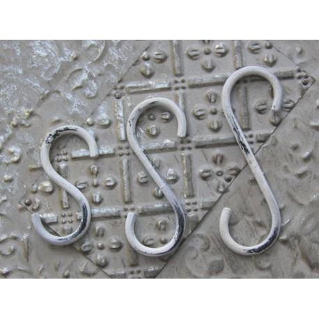 S-hook white H12 cm