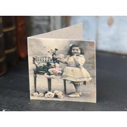 Kartka z Dziewczynką Chic Antique Mała 2