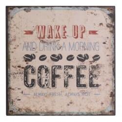 Obrazki Metalowe Chic Antique Coffee