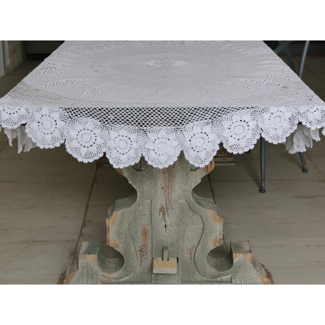Tablecloth crochet (S16) white D160 cm