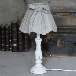 Lampa Stołowa Provence Chic z Kokardką