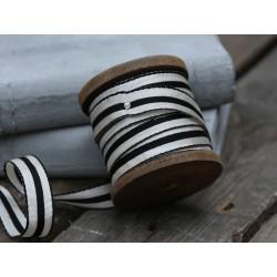 Ribbon striped on wooden spool