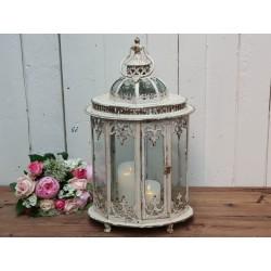 Lantern oval w. pattern antique cream