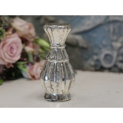 Vase small w.grooves H13/D6 cm